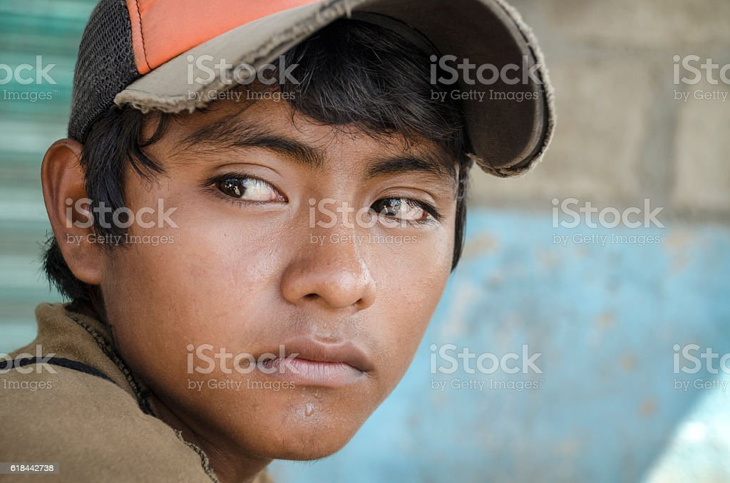 Latin American teen stock photo