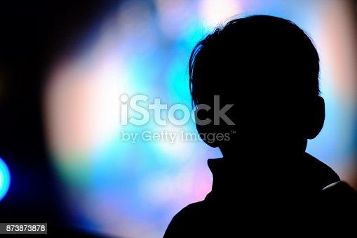 istock Latin boy silhouette 873873878