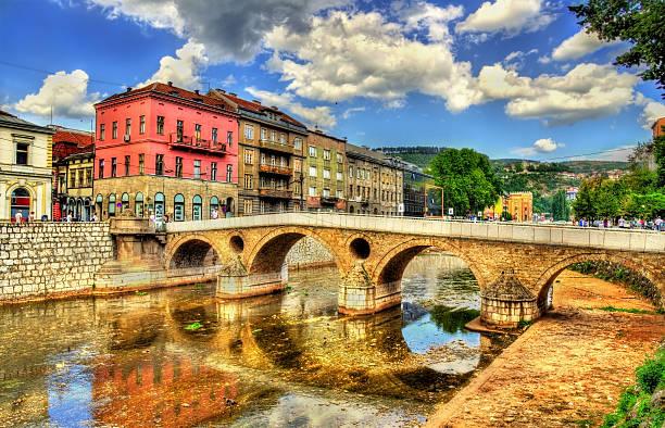 Latin Bridge in Sarajevo - Bosnia and Herzegovina stock photo