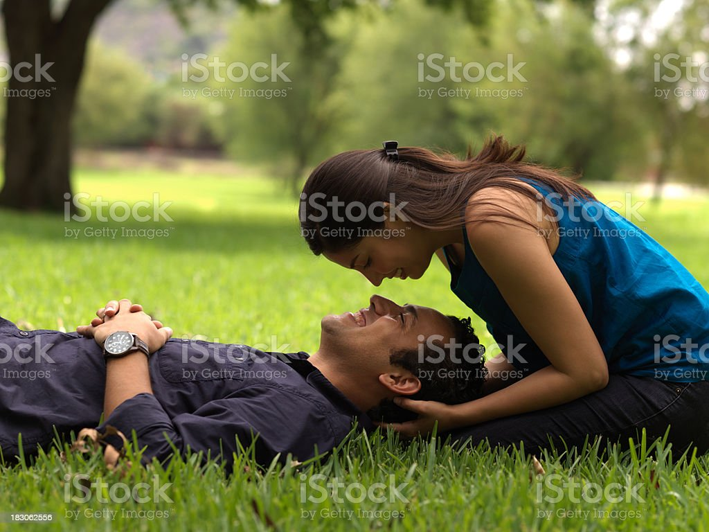 Latin couple in love royalty-free stock photo