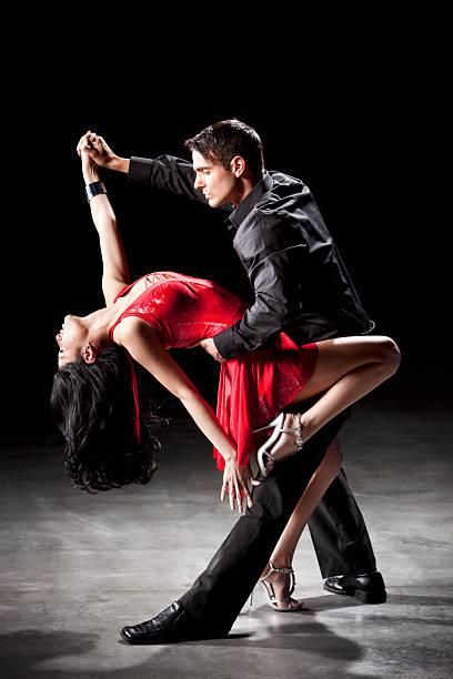 Latin Dance: Tango Dip stock photo