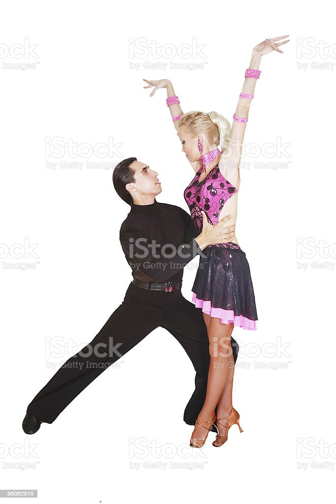 latin dancers over white royalty-free stock photo