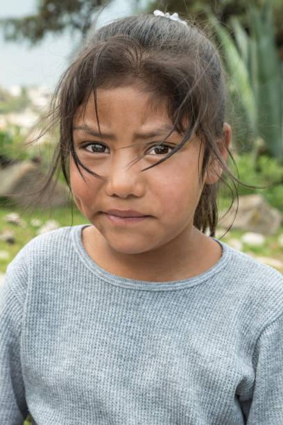 Latin expressive little girl stock photo