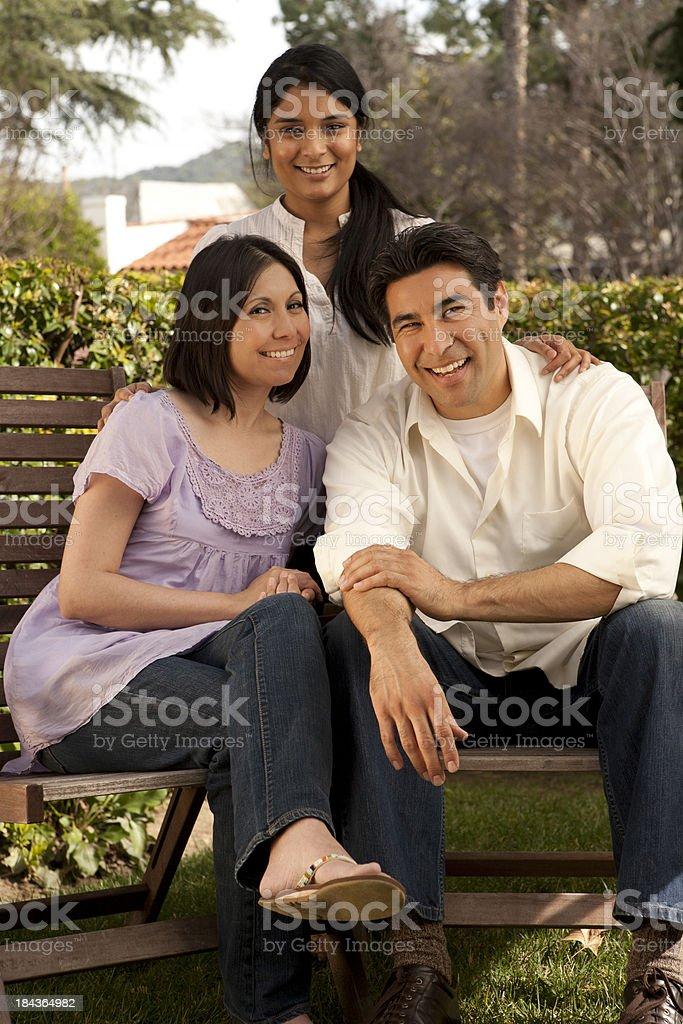 Latin Family royalty-free stock photo