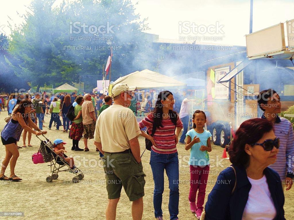 Latin Fest Food Stalls stock photo