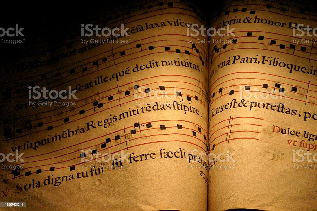 Latin Hymns royalty-free stock photo