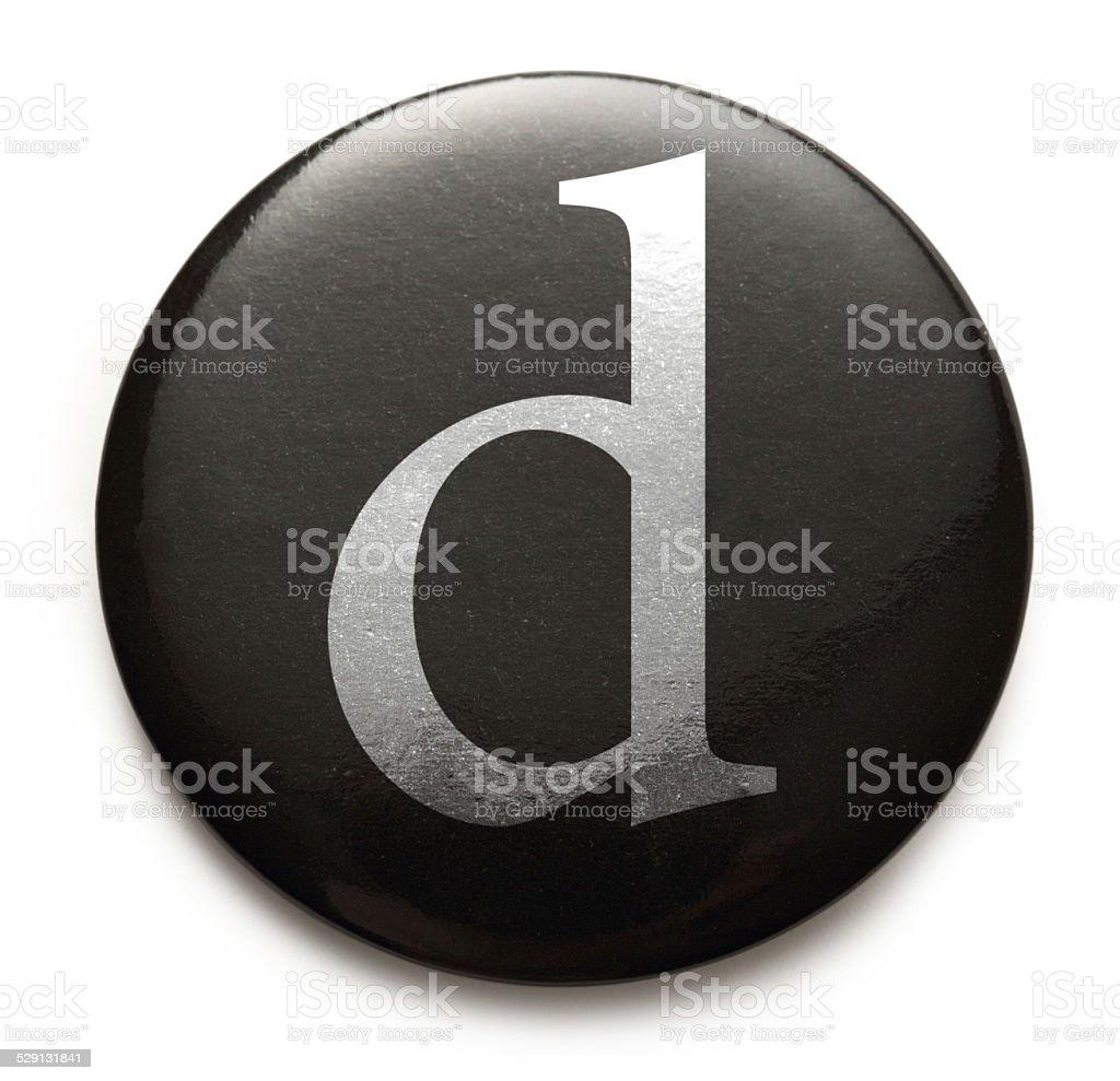 Latin letter d stock photo