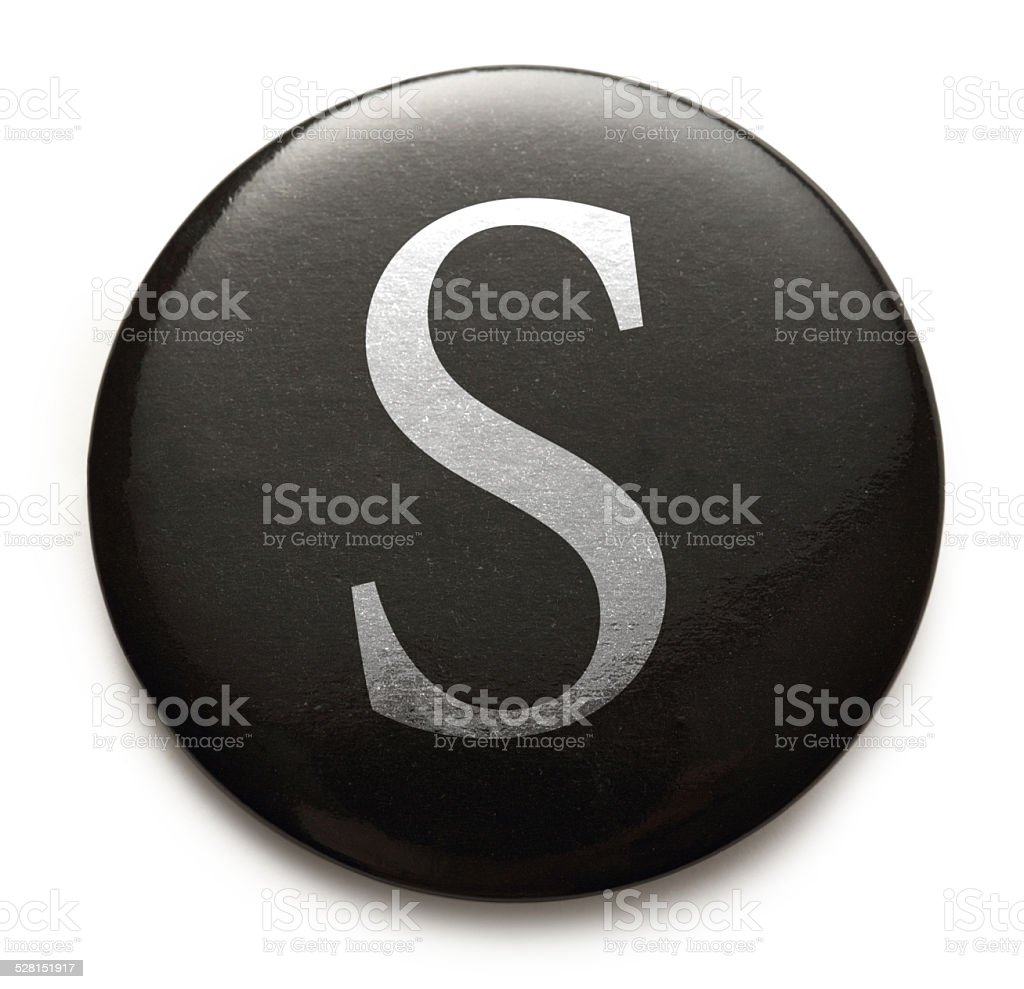 Latin letter S stock photo