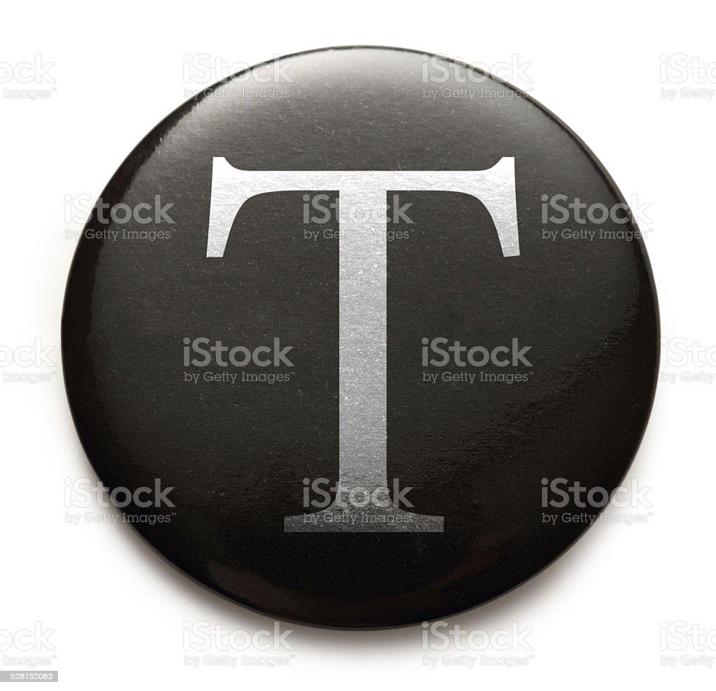 Latin letter T stock photo