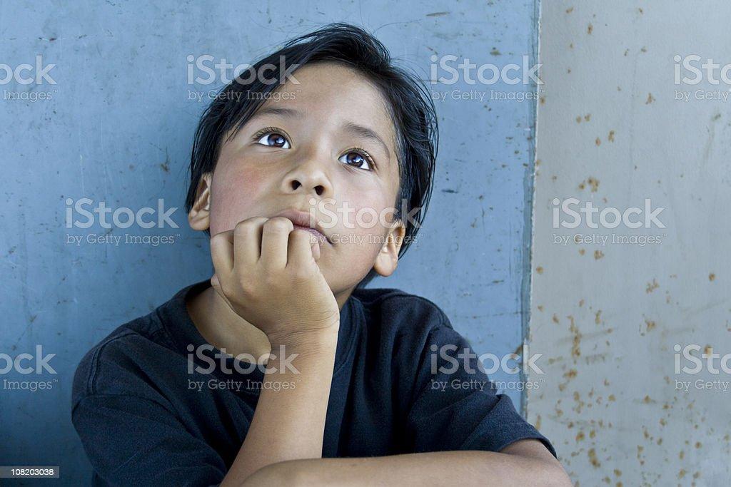 Latin Little Contemplation stock photo