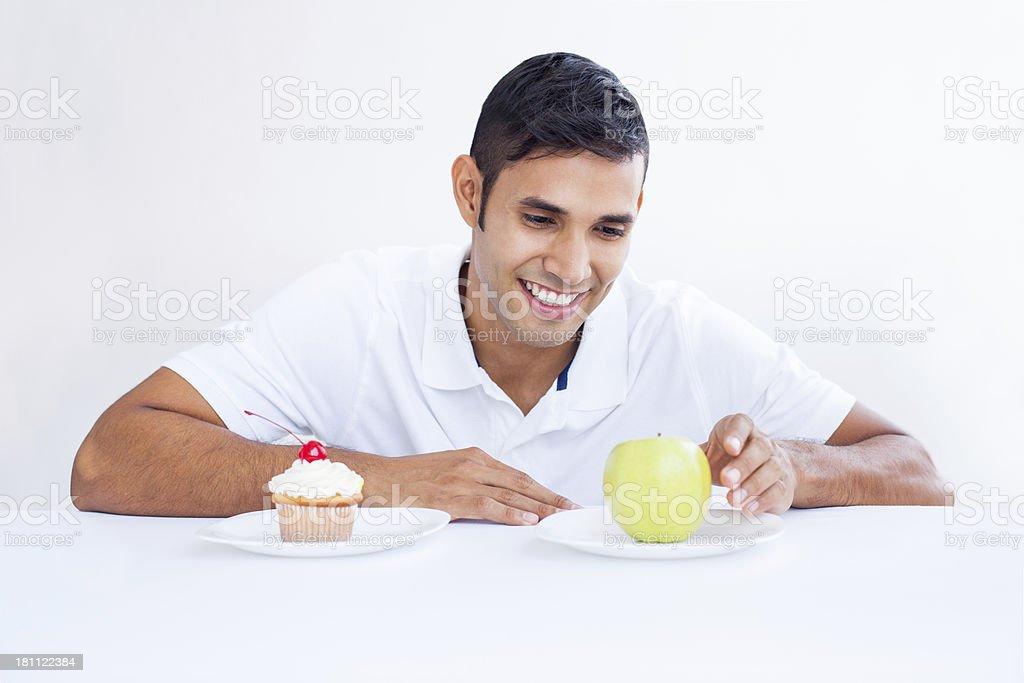 Latin man dieting royalty-free stock photo