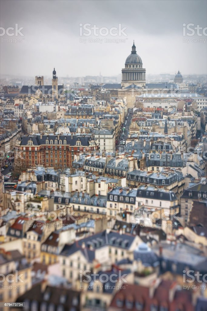 Latin Quarter and Pantheon in Paris 免版稅 stock photo