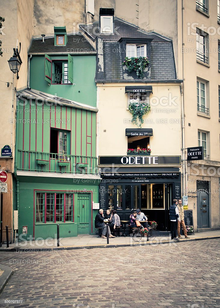 Latin Quarter Paris France stock photo