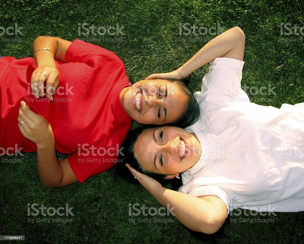 Latin Sisters stock photo