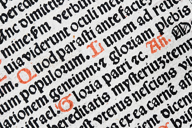 latin text detail stock photo