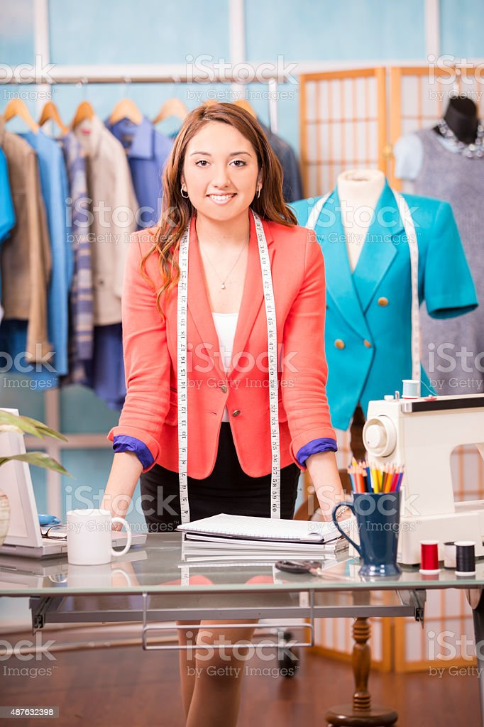 Latin Woman Small Business Owner Tailor Fashion Designer Boutique Stock Photo Download Image Now Istock
