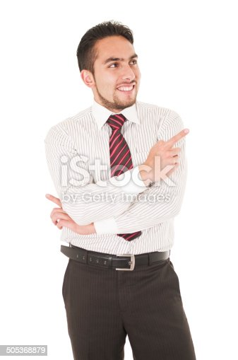 istock latin young man wearing red tie 505368879