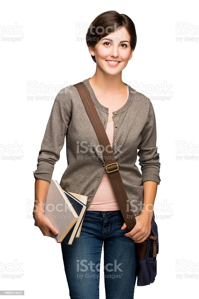 Latin young student stock photo