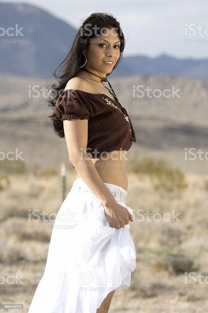 Latina in Desert royalty-free stock photo