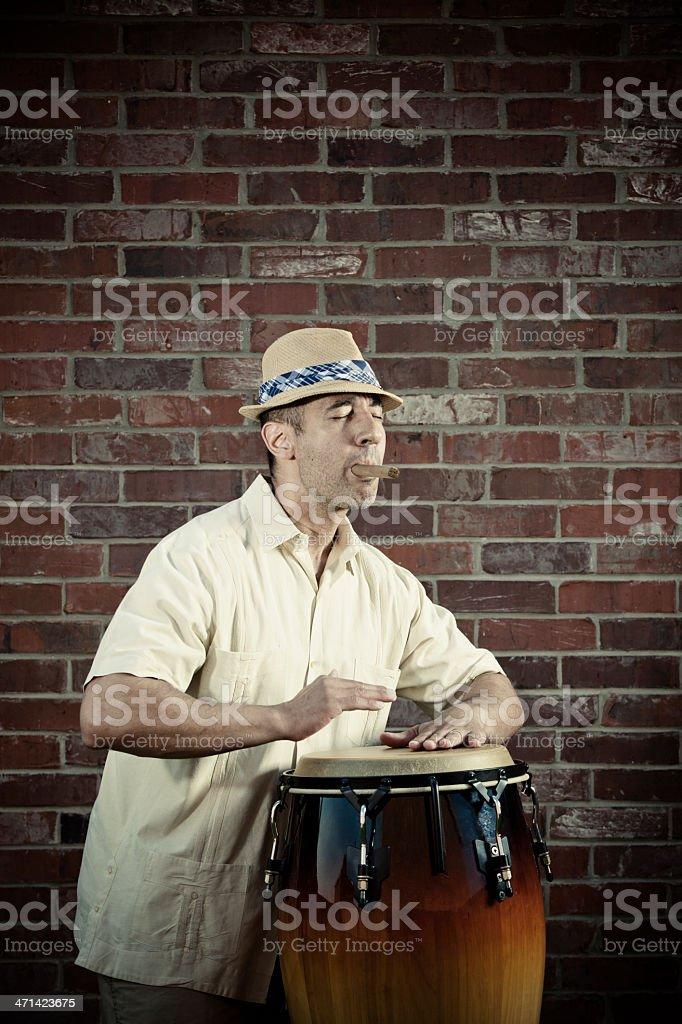 Latino conga player stock photo