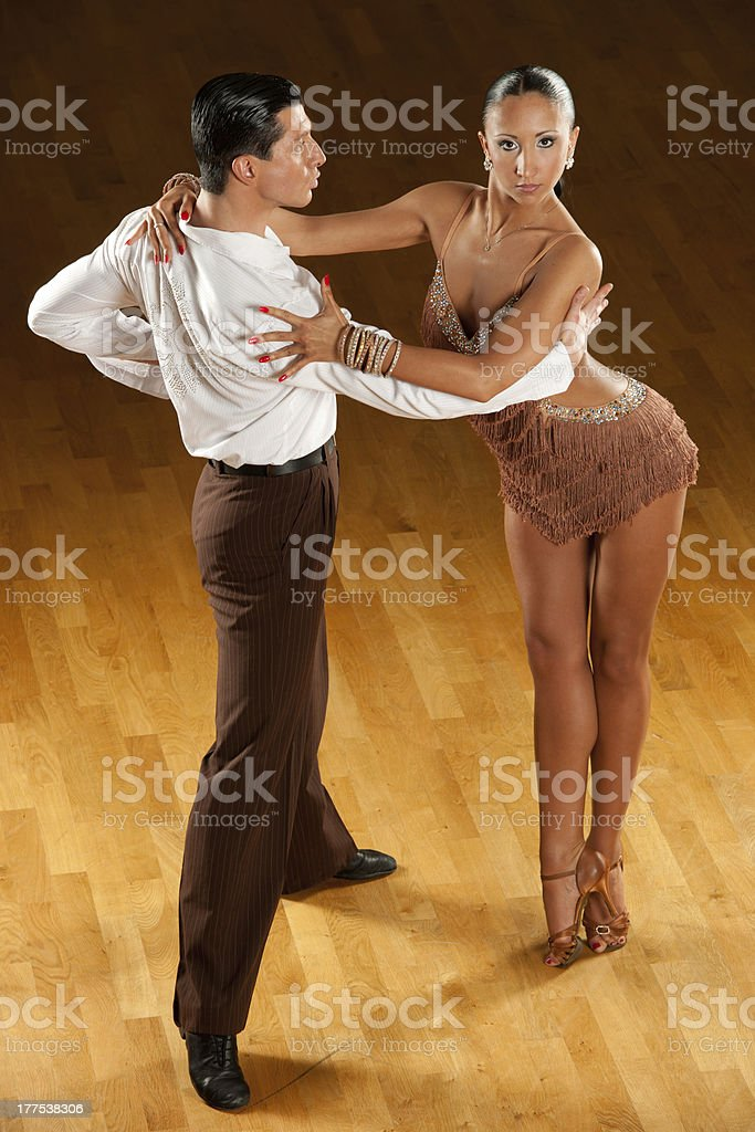latino dance couple in action royalty-free stock photo