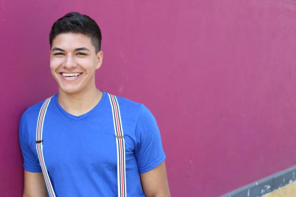Latino male with copy space Latino male with copy space. suspenders stock pictures, royalty-free photos & images