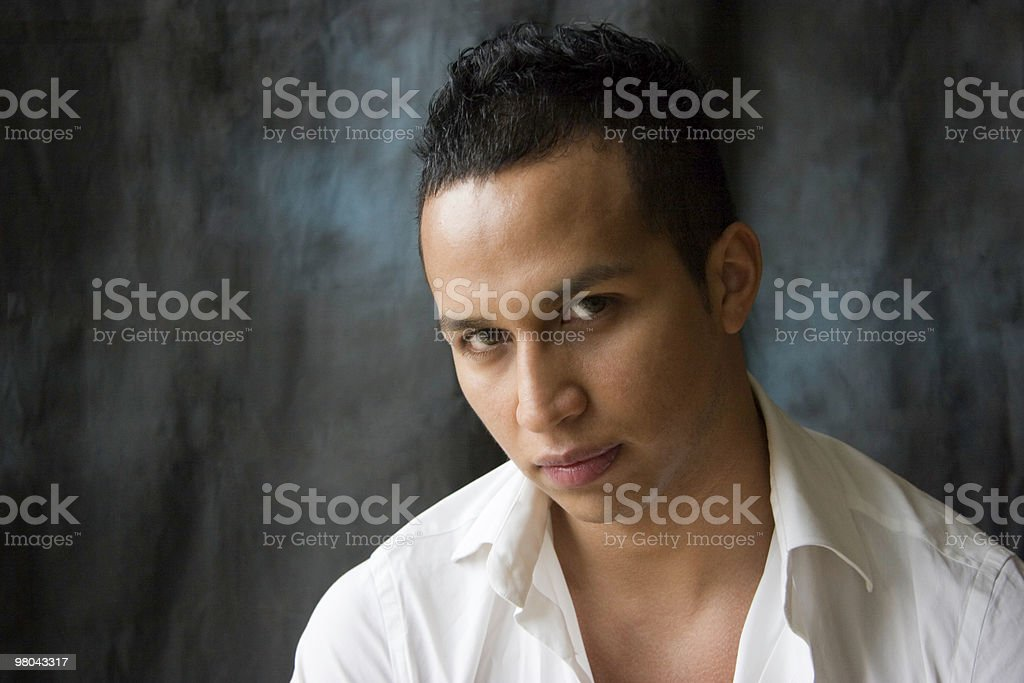 Latino Man With Serious Look royalty-free stock photo