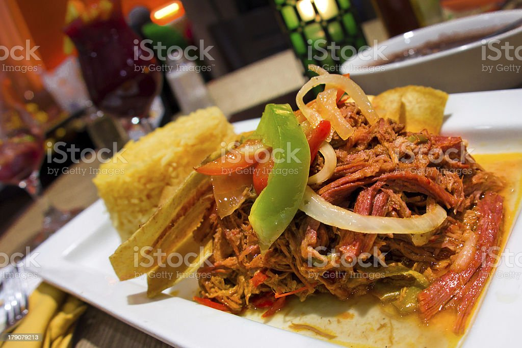 Latino Shredded Beef stock photo