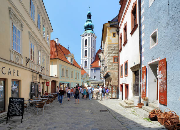 Latran district and St. Jost Church in , Czech Republic stock photo