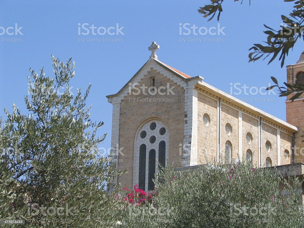 latrun church stock photo