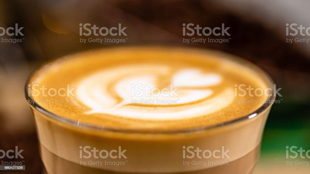 Latte Art close stock photo