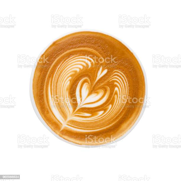 Latte Art Isolated On White Background Stock Photo - Download Image Now
