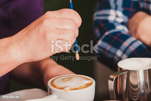 istock Latte art on the cup 625203144