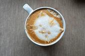 latte art:kitten pattern