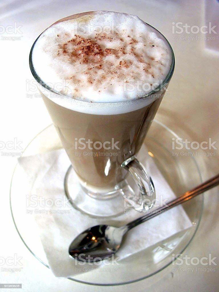 Latte, closeup royalty-free stock photo