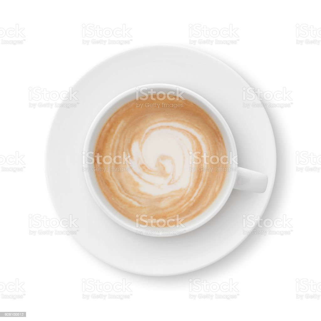 Latte Coffee Cup And Saucer Stock Photo Download Image Now Istock