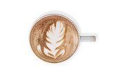 istock Latte coffee or cappuccino coffee 1341038833
