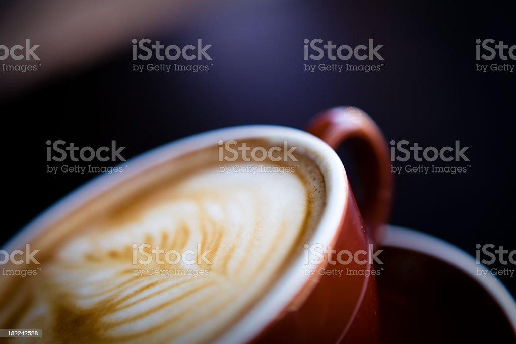 Latte Foam Art royalty-free stock photo