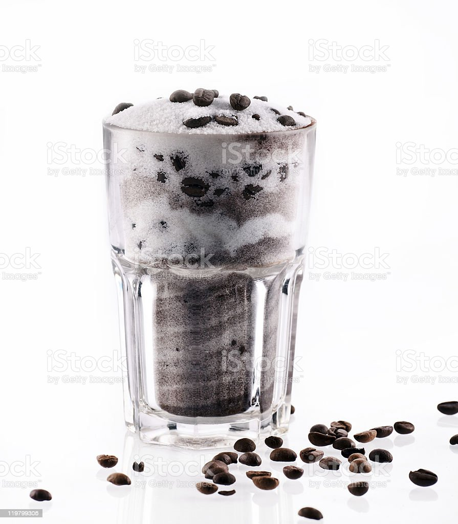 Latte macchiato abstrakt royalty-free stock photo