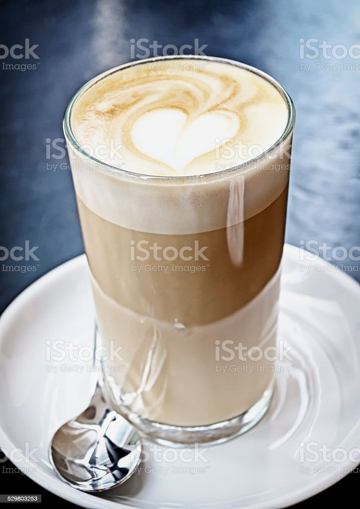 latte macchiato stock photo