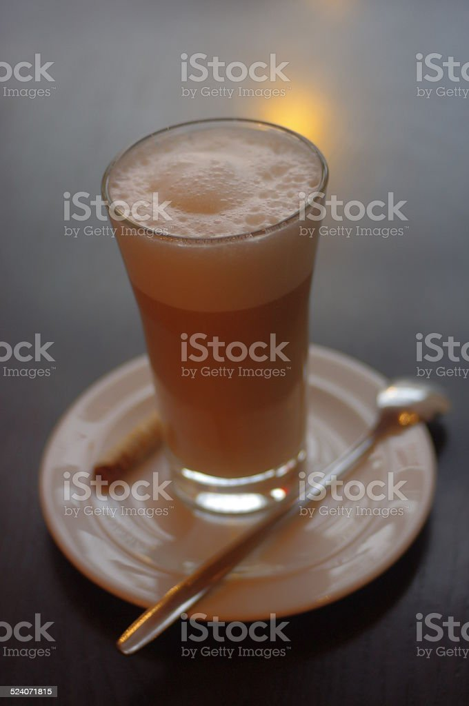 latte machiatto stock photo