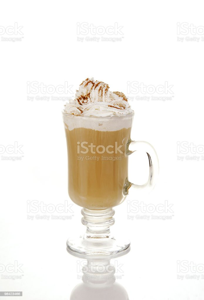 Latte or Cappucino royalty-free stock photo