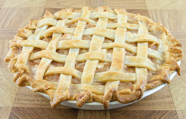 Lattice pastel de manzana - foto de stock