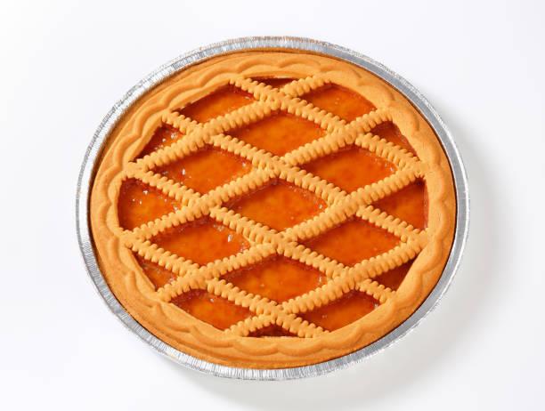 lattice apricot pie stock photo