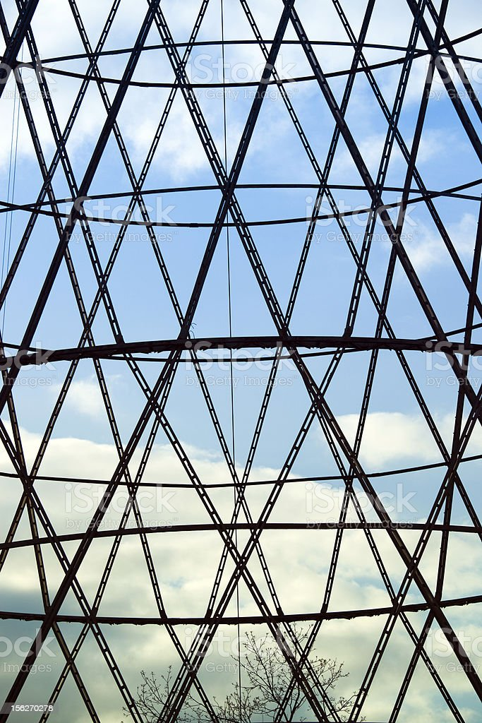 Lattice Of Shukhov Communication Tower Stock Photo