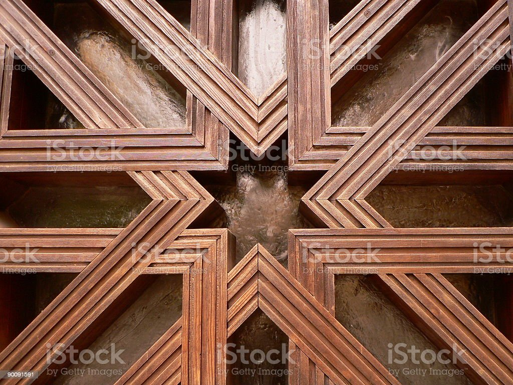 Lattice  Arabic Style Stock Photo