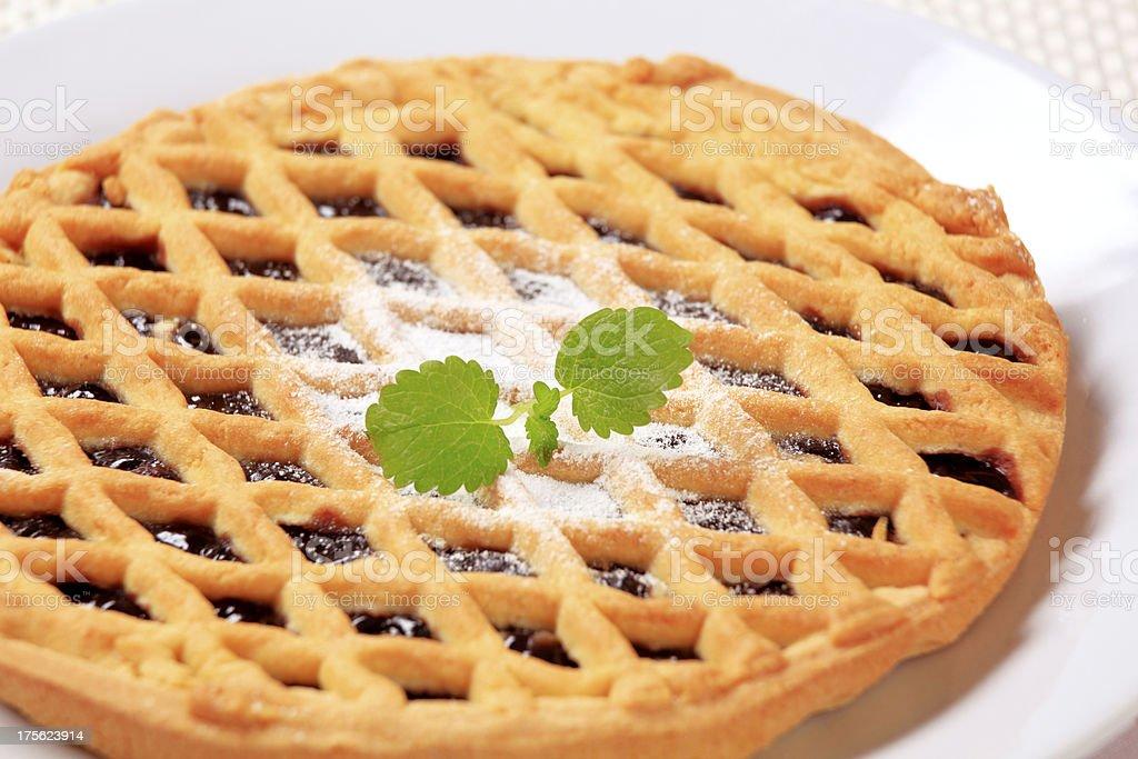 Lattice topped cake royalty-free stock photo