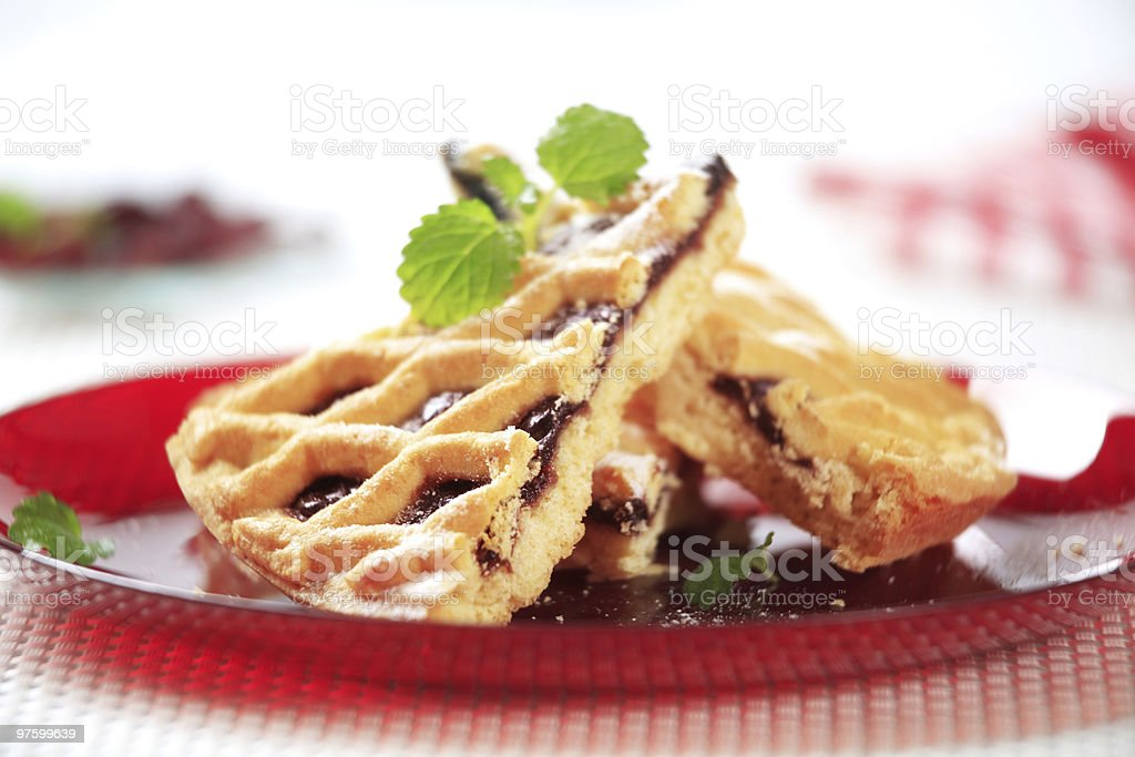 Lattice topped cake royalty-free stock photo