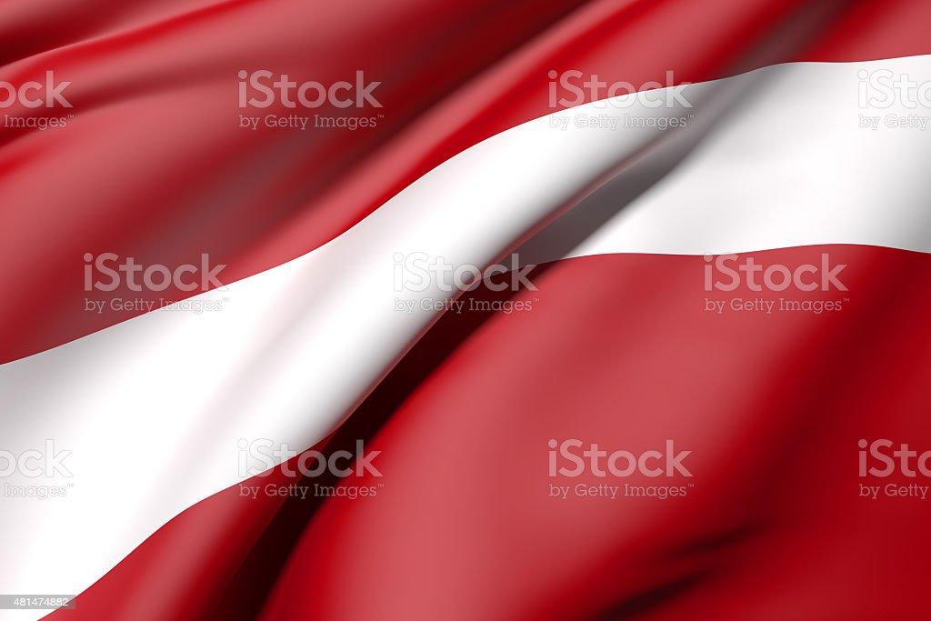 Latvia flag stock photo