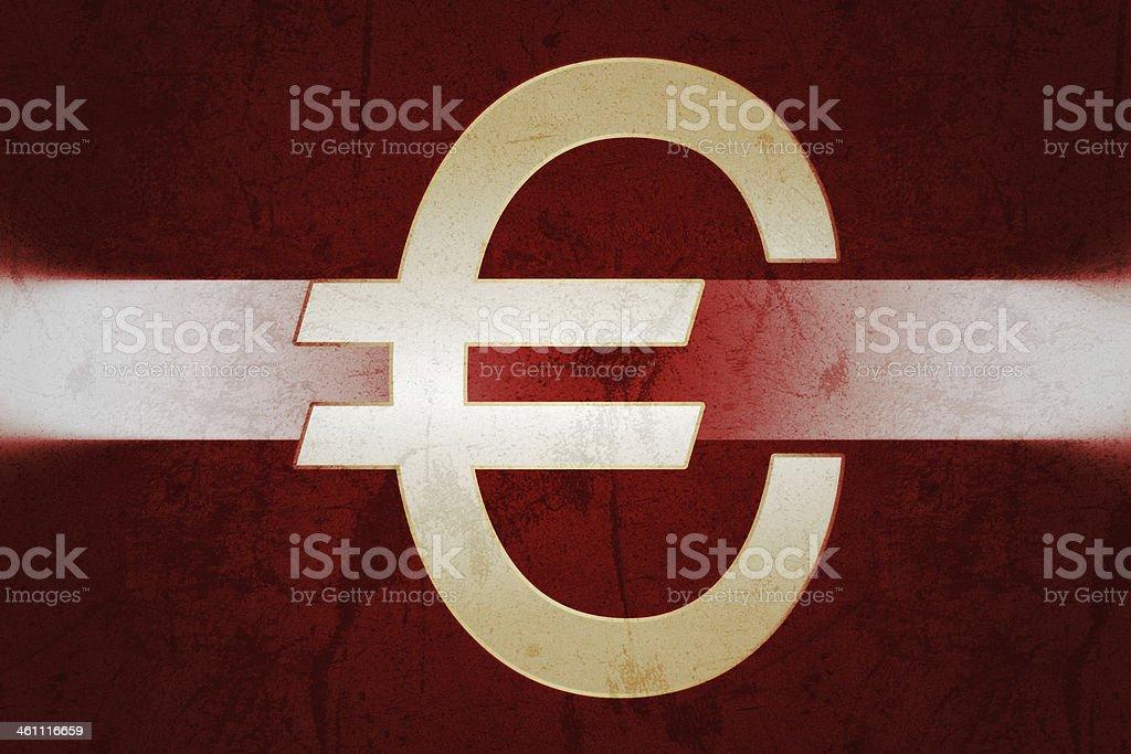 Latvia in the Euro stock photo